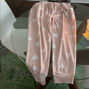 Topshop heart pajama pants